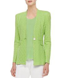 Misook Textured One-Button Jacket - Lyst