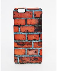 ASOS - Iphone 6 Cover With Brick Wall Print - Lyst