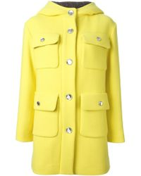 Moschino Cheap & Chic Flap Pockets Hooded Coat - Lyst