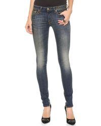 R13 Blue Skinny Jeans  - Lyst