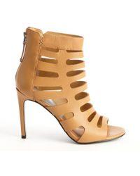 Dolce Vita Carmel Leather Hettie Cutout Detail Open Toe Booties - Lyst