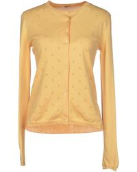 Miu Miu Yellow Cardigan - Lyst