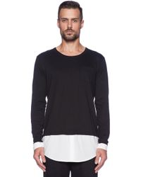 Shades of Grey by Micah Cohen Shirttail Tee - Lyst