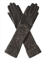 Jaeger | Wool And Leather 3/4 Length Glove | Lyst