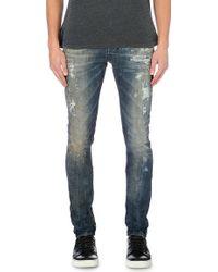 Diesel Tepphar Distressed Slim Jeans - Lyst