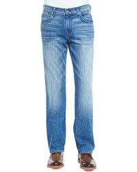 7 For All Mankind Carsen Luxe Performance Jeans - Lyst