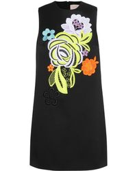 Christopher Kane Shift Dress with Lace Appliqué - Lyst
