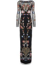 Temperley London Black Mix Long Toledo Gown - Lyst
