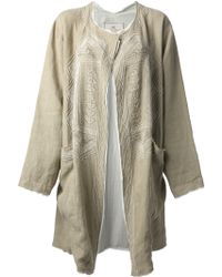 Etro Embroidered Oversized Coat - Lyst