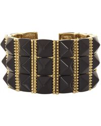 House Of Harlow Sugarloaf Bars Bracelet Black - Lyst