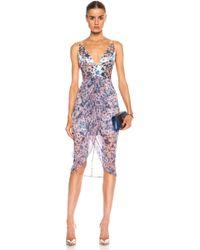 Zimmermann Riot Plunge Linen-blend Dress - Lyst