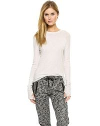 Enza Costa Loose Crew Neck Tee  - Lyst