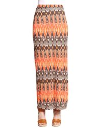 Joie Loni Printed Jersey Maxi Skirt - Lyst