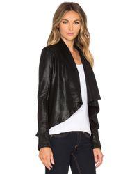 Krisa - Draped Cotton-Blend Jacket - Lyst