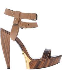 Lanvin Brown Sandals - Lyst