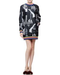 Libertine - Surreal Hands-Print Sweatshirt Dress - Lyst