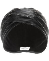 Saint Laurent - Leather Turban - Lyst