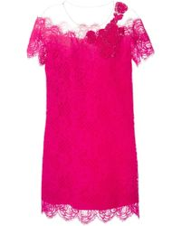 Alberta Ferretti Lace Embellished Dress - Lyst