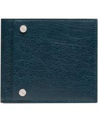 Balenciaga Blue Square Wallet - Lyst
