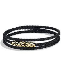 David Yurman Chevron Triple-wrap Bracelet with Gold - Lyst