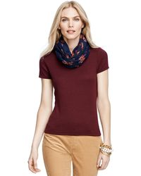 Brooks Brothers Silk and Cashmere Cap Sleeve Shell - Lyst