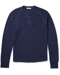 Alex Mill Waffle-Knit Cotton Henley T-Shirt - Lyst