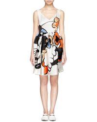 Helen Lee - Minnie Mouse Print Silk Dress - Lyst