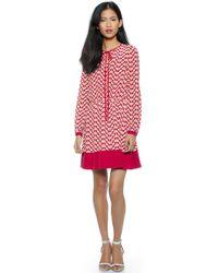 RED Valentino Slipper Print Dress - Ruby - Lyst