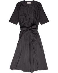 La Robe - Rose Silk Dress In Black - Lyst