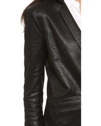 Capulet - Notch Collar Blazer - Black Python - Lyst