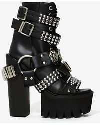 Nasty Gal Jeffrey Campbell Mestizo Studded Leather Boot - Lyst