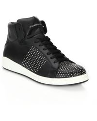 Alexander McQueen | Studded Leather High-top Sneakers | Lyst