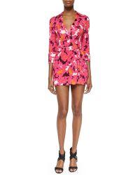 Diane von Furstenberg Celeste Floral-Print Wrap Dress - Lyst