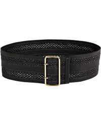 Linea Pelle Inset Braid Wide Waist Belt - Lyst