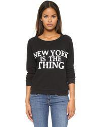 Rebecca Minkoff New York Sweatshirt - Black - Lyst