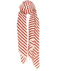 By Malene Birger Basix Scarf Flame Red - Lyst