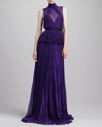 Jason Wu Swiss Dotinset Pleated Peplum Gown - Lyst