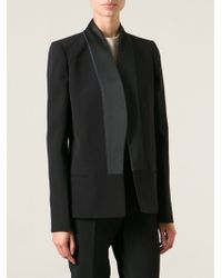 Victoria Beckham Structured Shoulder Jacket - Lyst