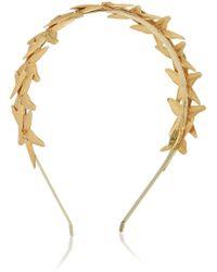 Eugenia Kim Stelle Gold-tone and Leather Starfish Headband - Lyst