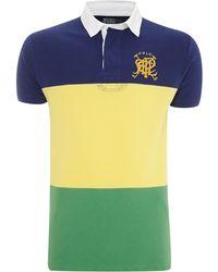 Polo Ralph Lauren Custom Fit Block Stripe Polo Shirt - Lyst