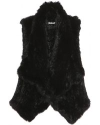 Alice + Olivia Harriet Fur Vest - Lyst