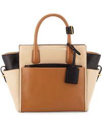 Reed Krakoff Atlantique Mini Colorblock Leather Tote Bag brown - Lyst