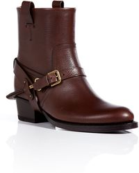 Ralph Lauren Collection Leather Ankle Boots - Lyst