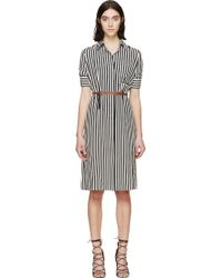 Altuzarra Black And White Crepe Kieran Dress - Lyst