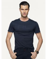 Ralph Lauren Black Label Logo Pima Cotton T-Shirt blue - Lyst