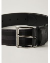 Burberry Haymarket Check Belt - Lyst