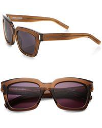 Saint Laurent Bold Square Unisex Sunglasses - Lyst