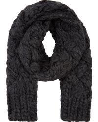 Junya Watanabe - Grey Hand_knit Wool Scarf - Lyst