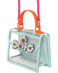 Shourouk - Acapulco Pvc Bag With Jeweled Detail - Lyst