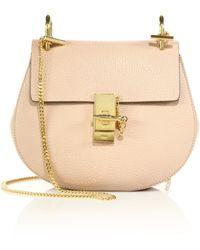 Chlo�� \u0026#39;small Kurtis\u0026#39; Suede \u0026amp; Leather Shoulder Bag in Beige (MOTTY ...